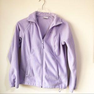 Columbia | Lavender zip up fleece